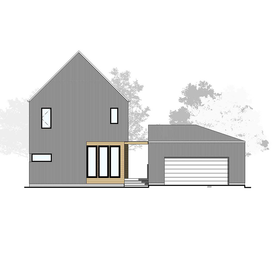 Front Elevation Farmhouse