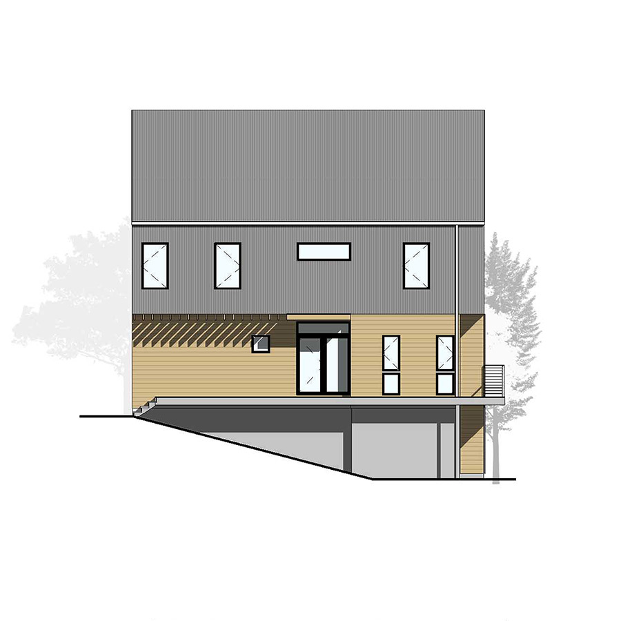 Left Elevation Farmhouse