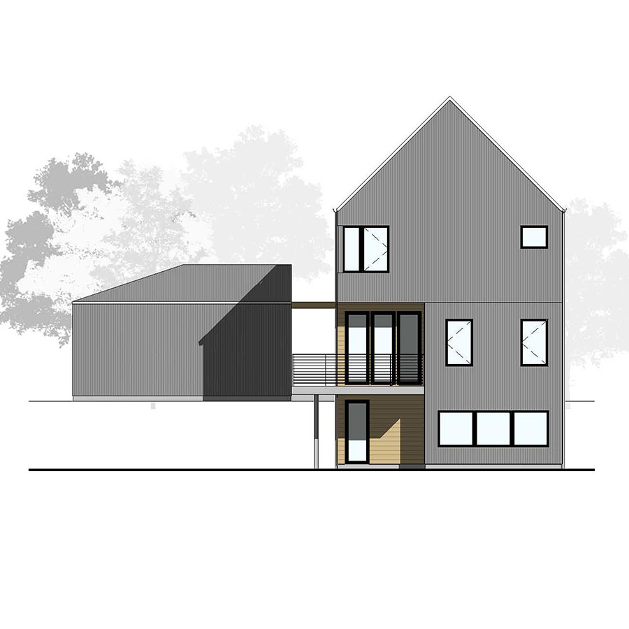 Rear Elevation Farmhouse