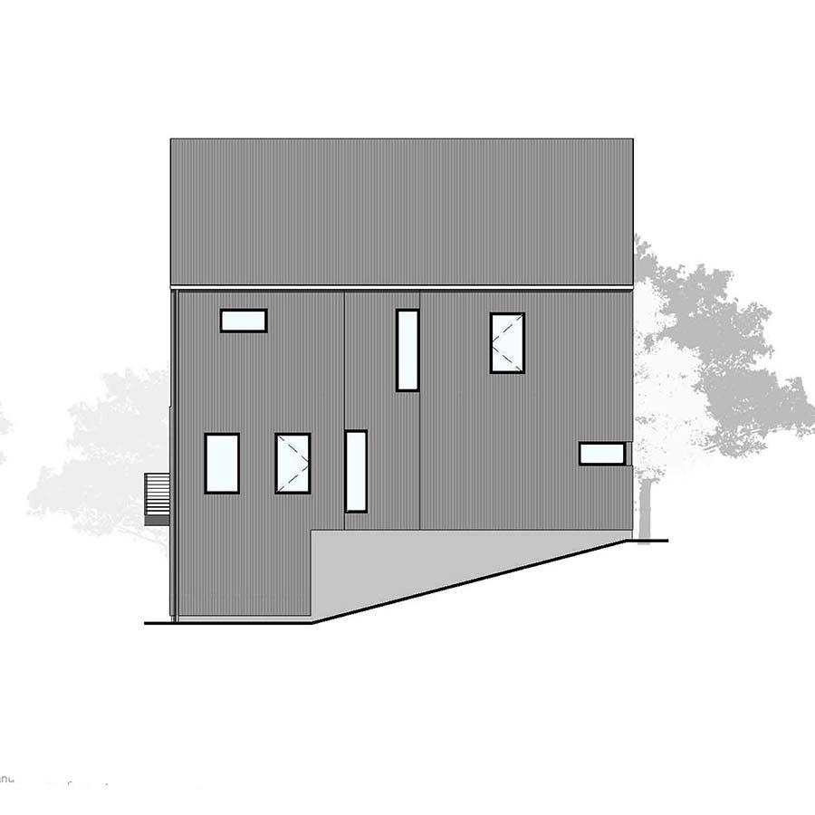 Right Elevation Farmhouse