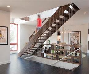 A custom modern stair in UIC Home