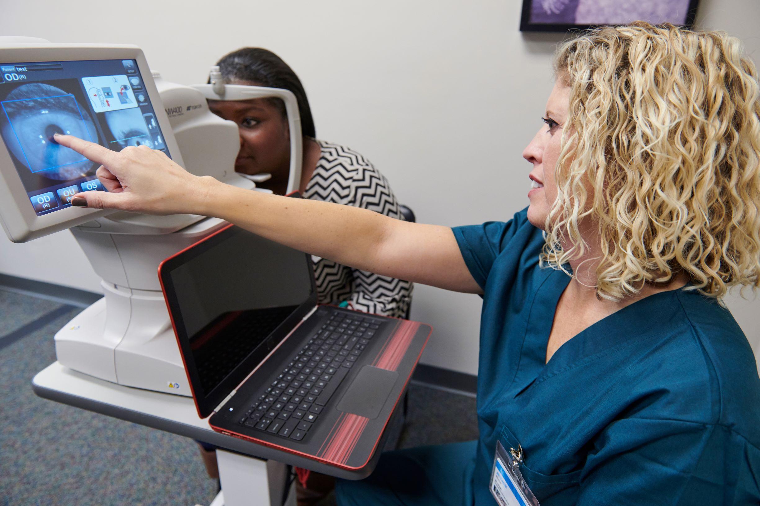 IDx-DR Exam with Patient