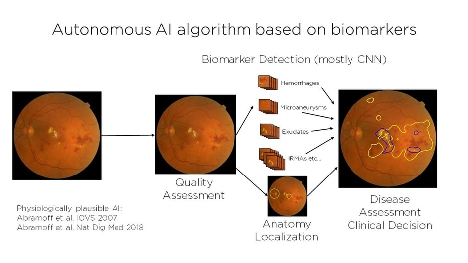 Autonomous AI algorithm based on biomarkers