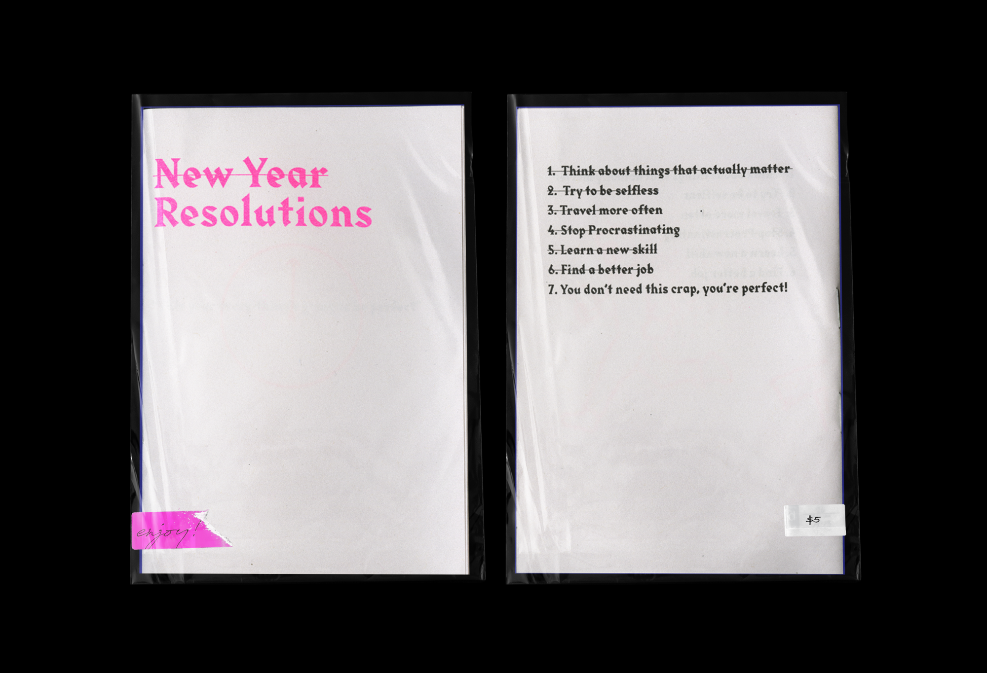 Resolutions Art A Satirical Take On New Year S Resolutions