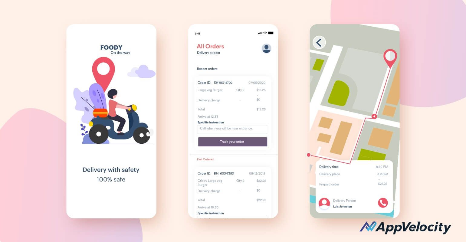 Delivery version of Food Delivery App