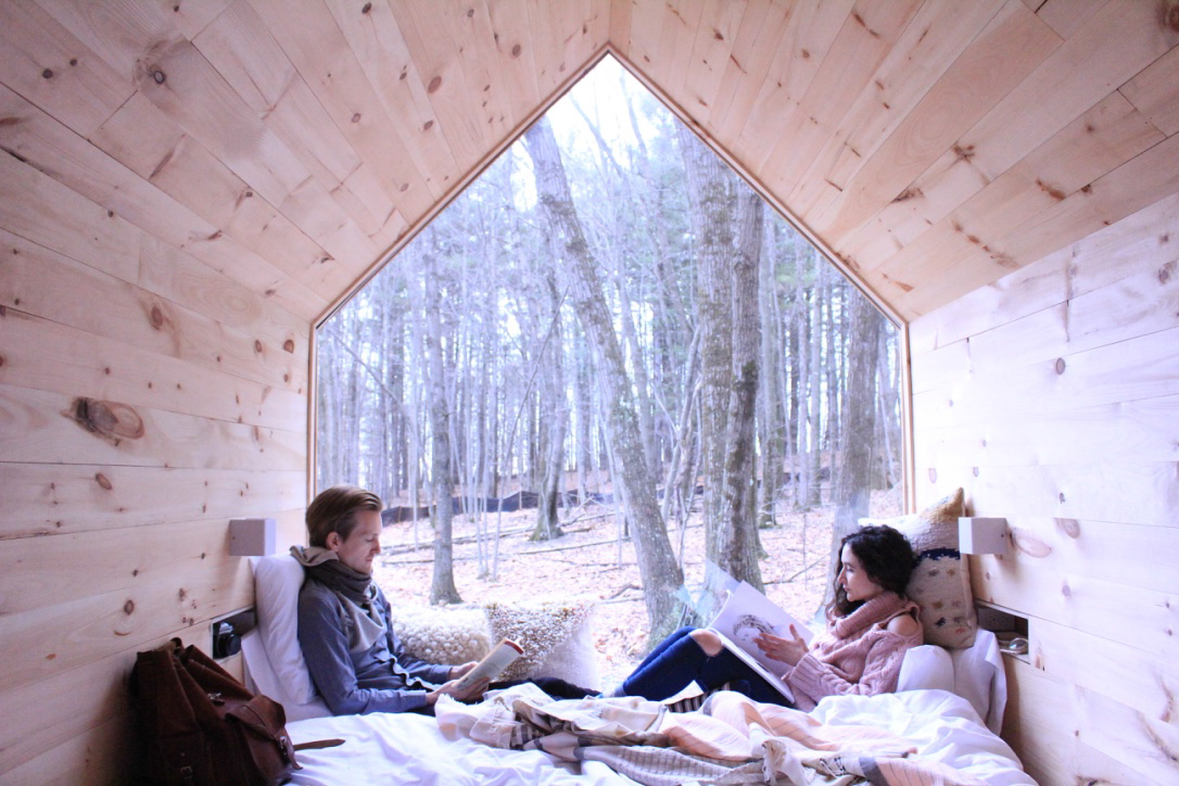 Spend a night in a cabin to recharge your batteries