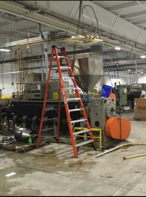 Industrial Electrical project performed by Portman Electric as the electrical contractor in Cleveland