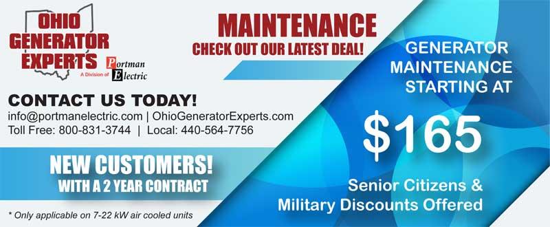 generator maintenance coupon cleveland ohio