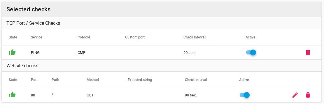 Setting up network device checks in CloudRadar