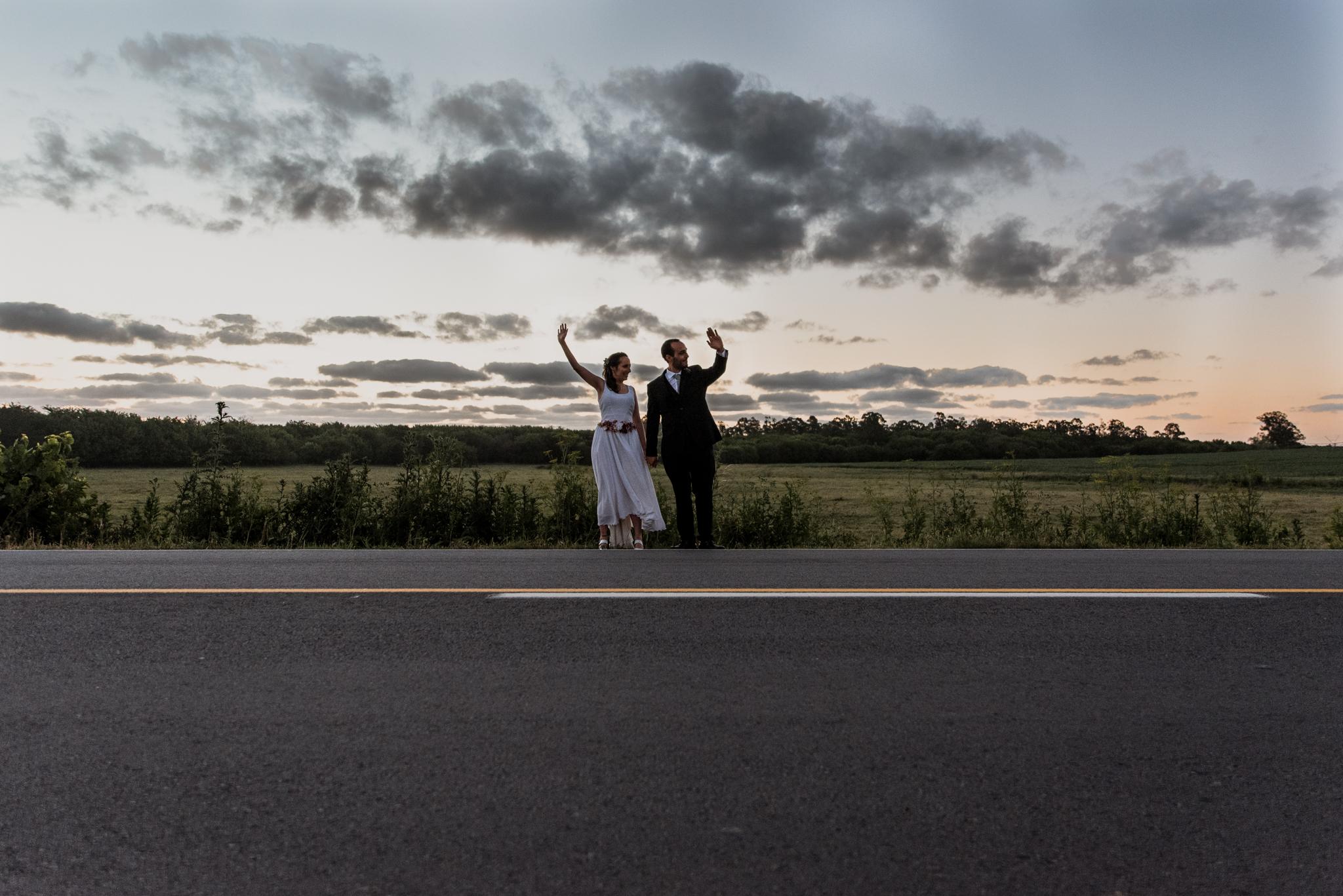 boda al atardecer