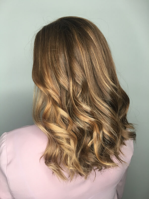 brown hair blond highlights