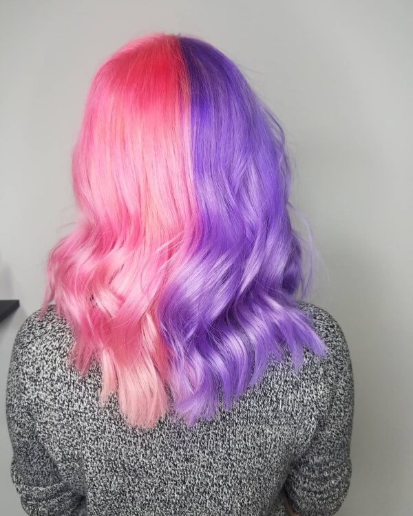 Pink and purple hair by jaime