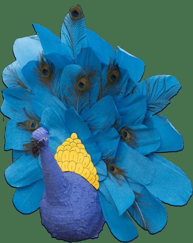 custom peacock pinata break free pinatas