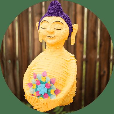 custom monk buddha piñata