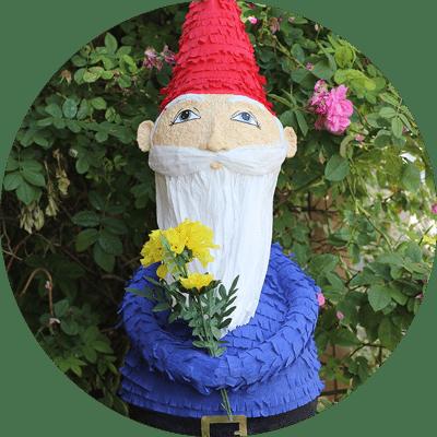 custom garden gnome piñata