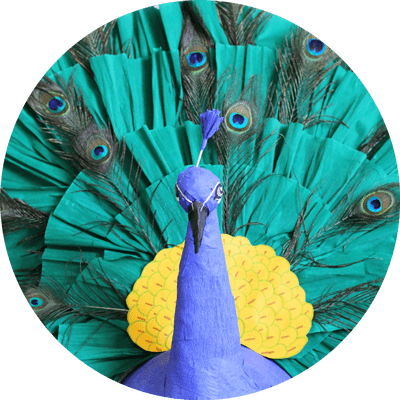 custom colorful peacock pinata