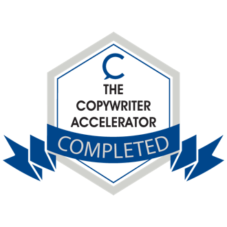 Copywriter Accelerator course certification logo