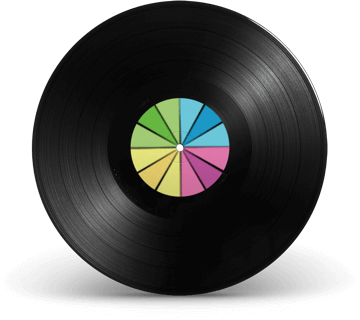 Vinyl record with Smarty logo symbol in the entre
