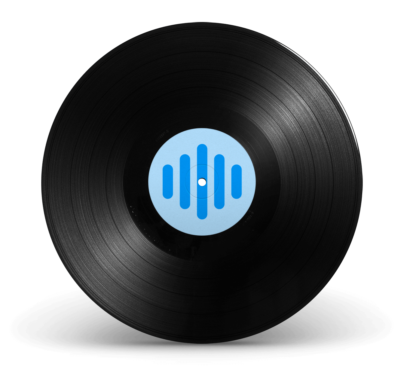 Vinyl record with Ranktracker symbol in the entre