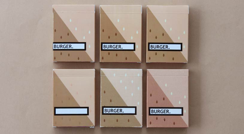 Burger playing cards tuck box evolution