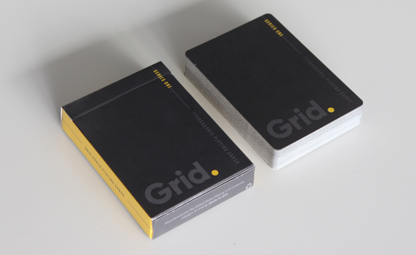 Grid deck typographic playing cards