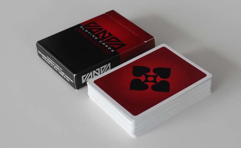 Vanda playing cards crimson edition