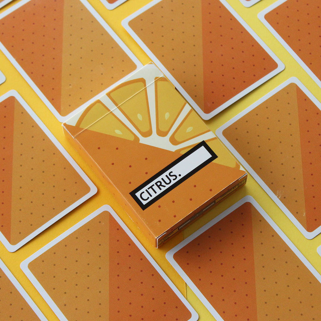 burger playing cards deck