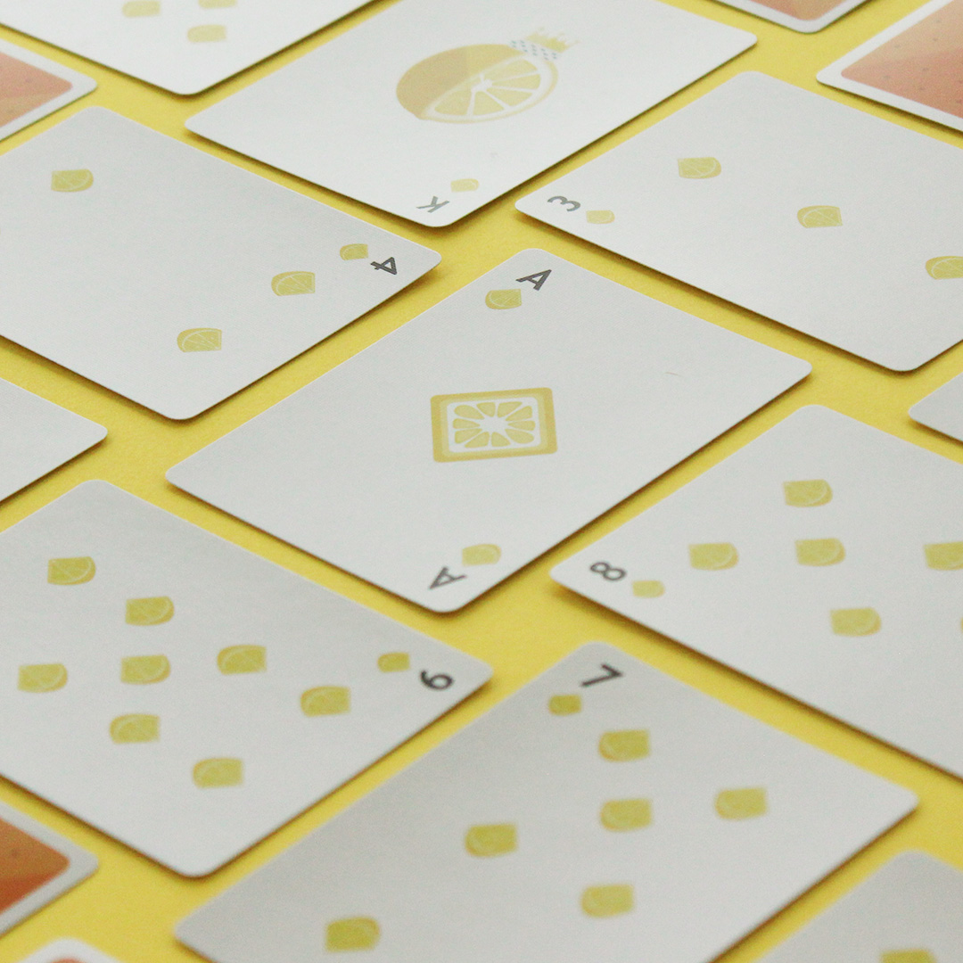 Burger playing cards heart suits