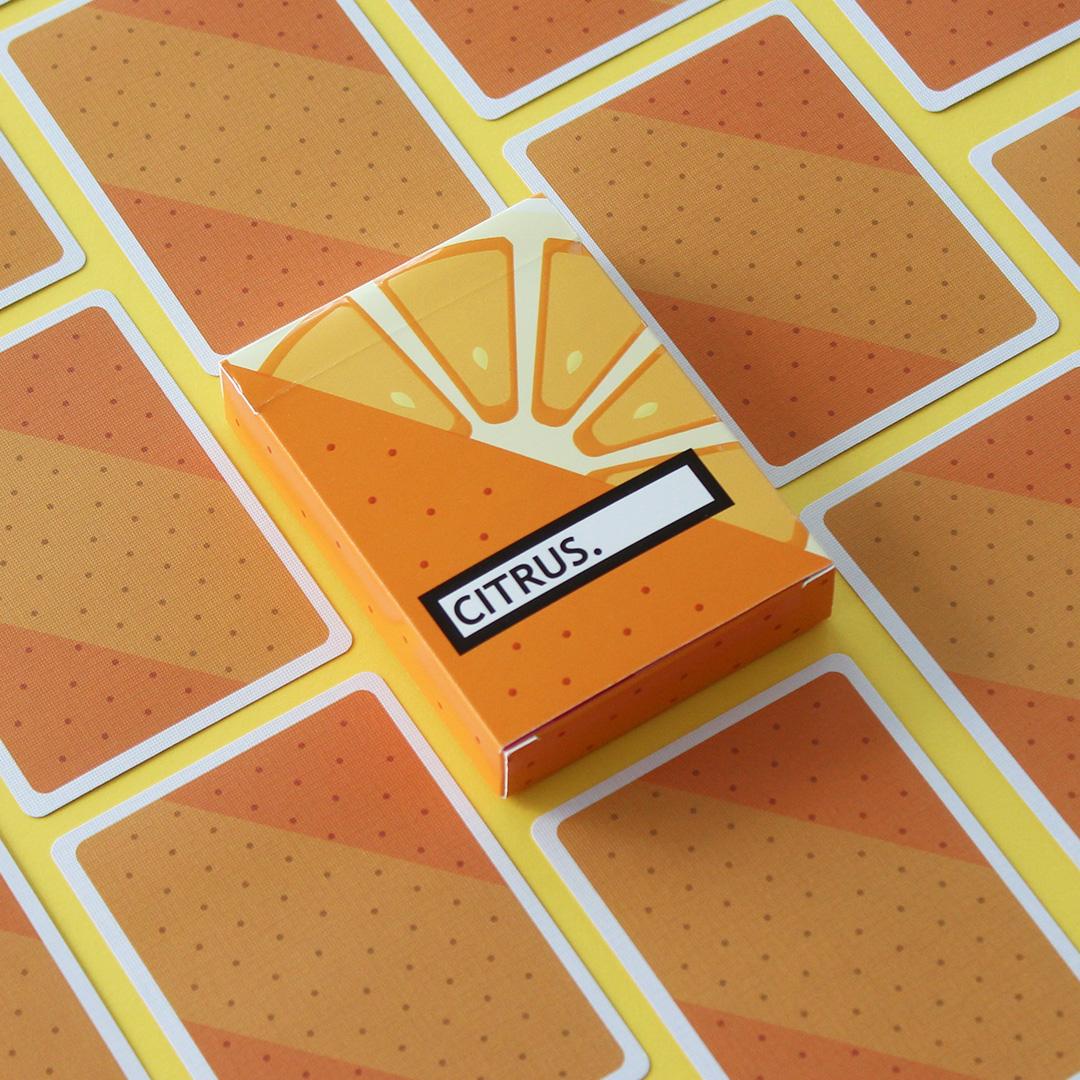 burger playing cards deck
