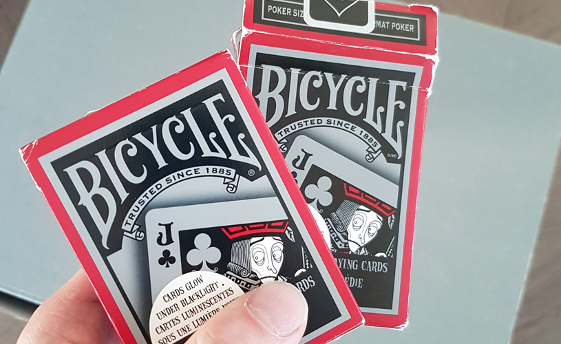pair of bicycle tragic royalty playing cards