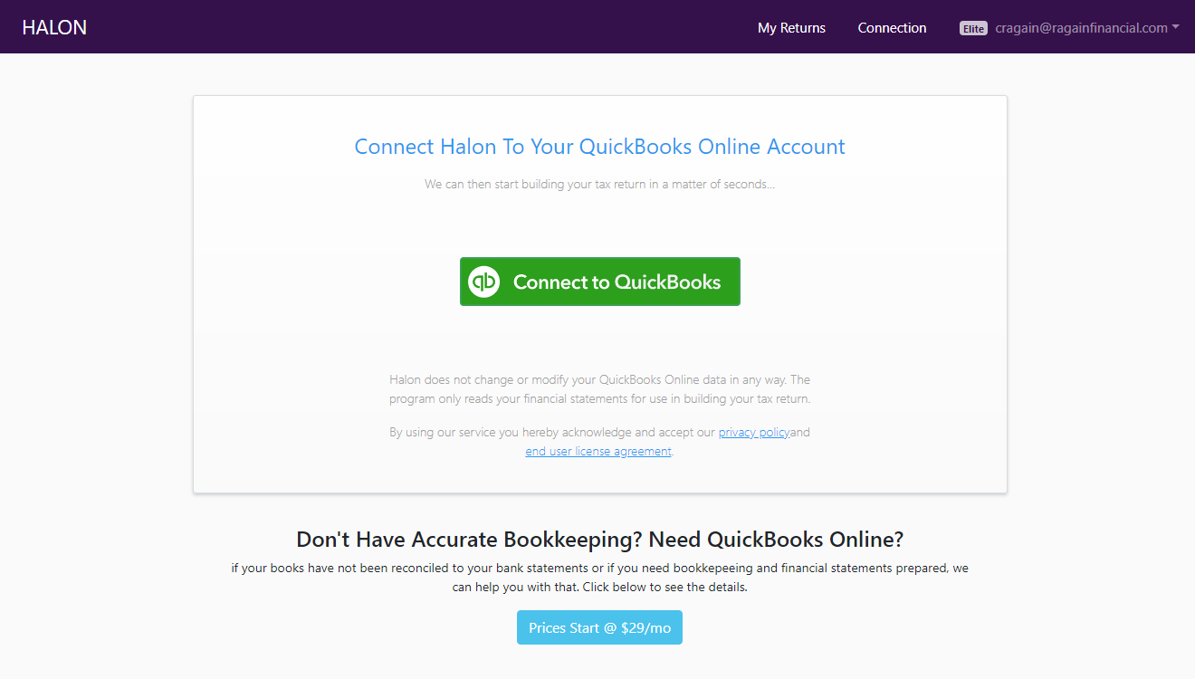 QuickBooks Tax Return Preparation
