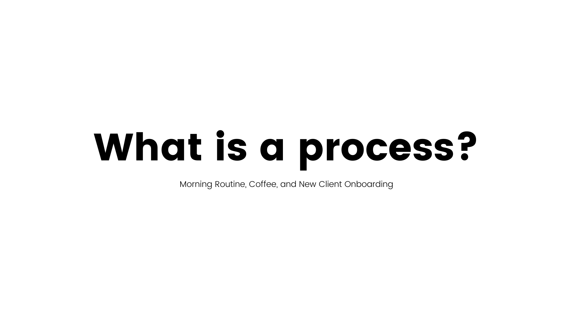 What is a Process?