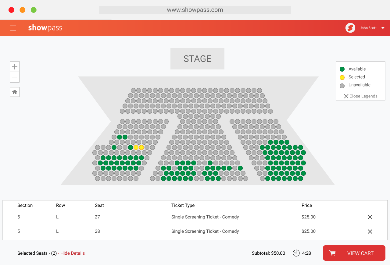 Event tickets with assigned seating