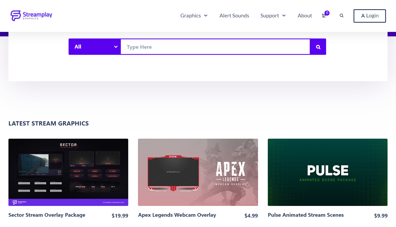 Streamplay Graphics Homepage