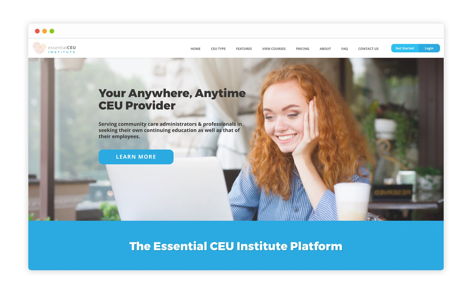 Home Page of Essential CEU Institute by Moonbase Labs