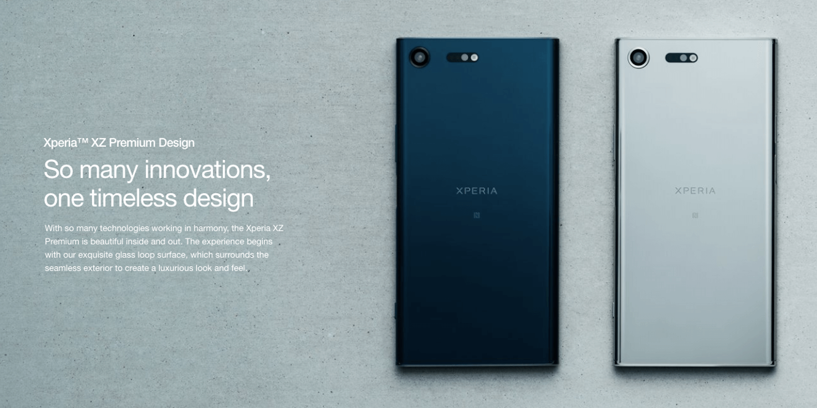 Sony Xperia XZ phone in different colours