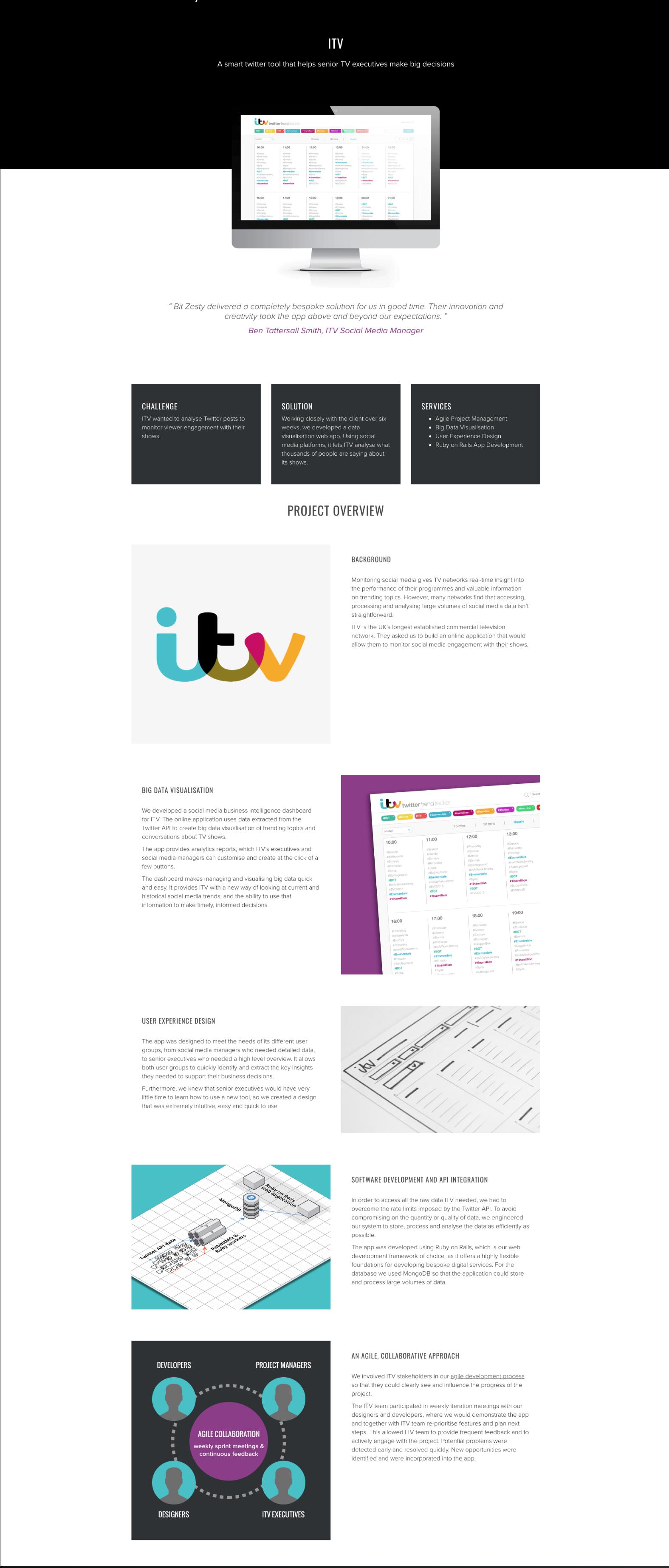 Bit Zesty ITV case study
