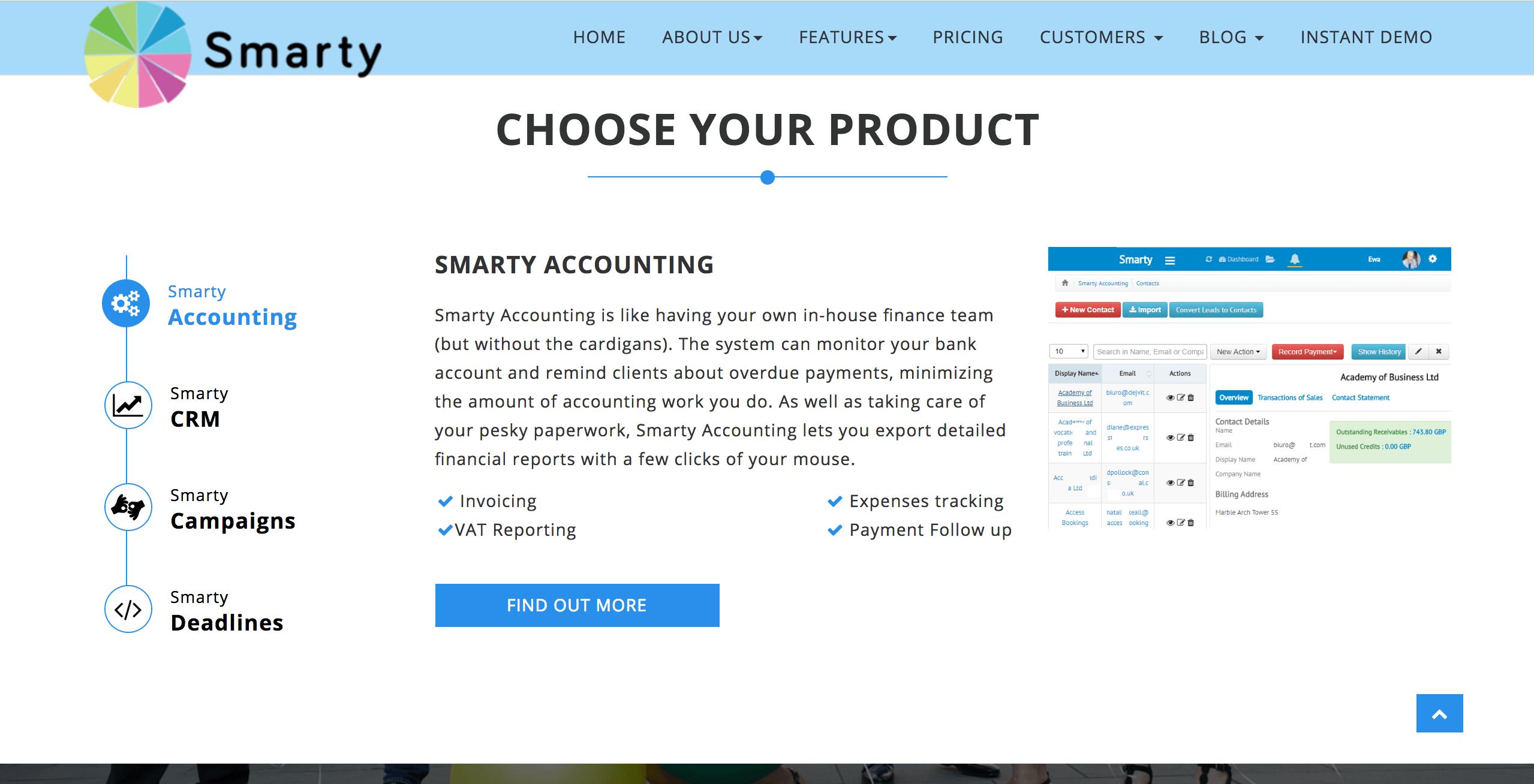 Smarty software description