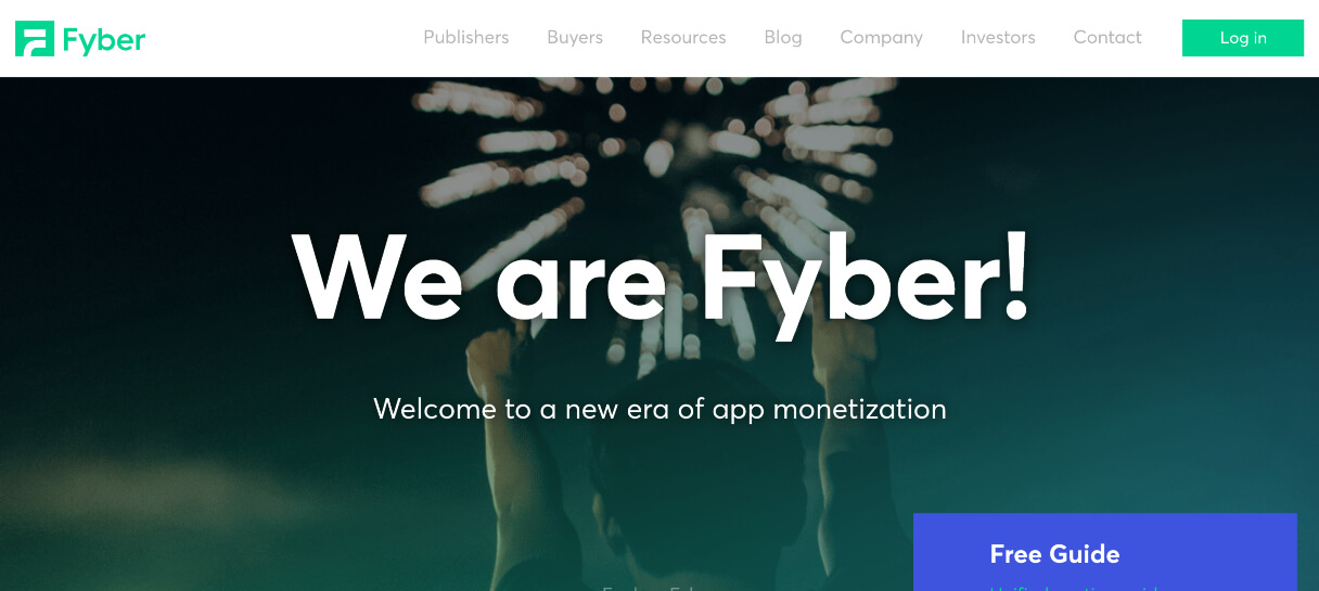 Fyber website copywriting