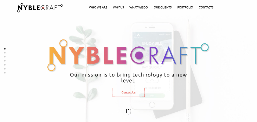 Nyblecraft website copywriting