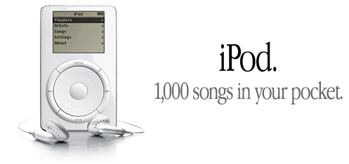 Picture of original ipod ad