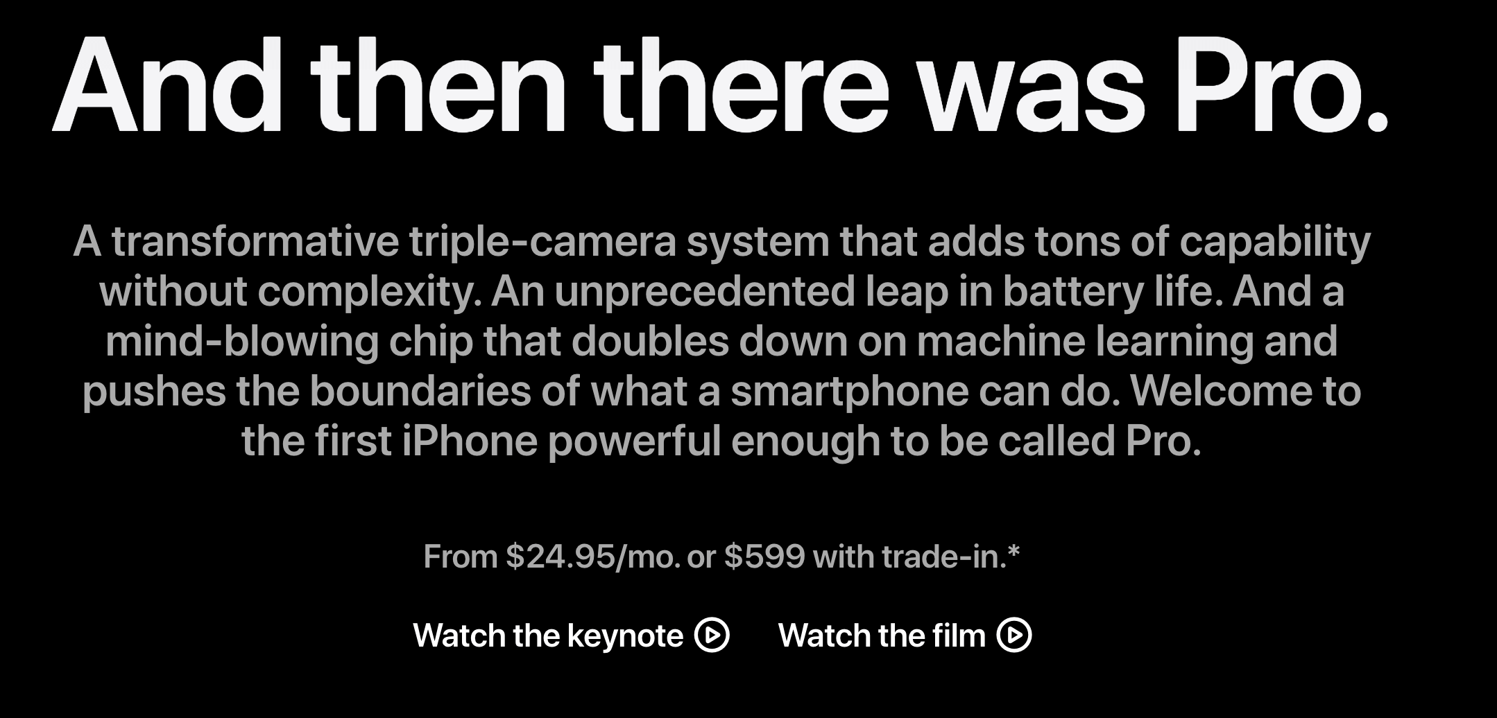 iphone 11 triple camera ad