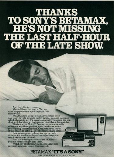 Picture of classic betamax ad