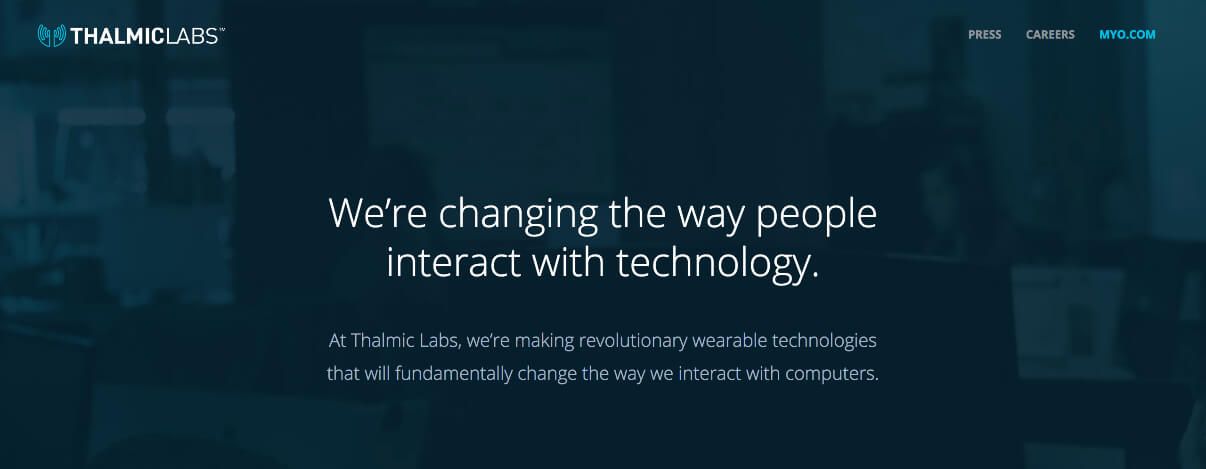 Thalmic labs webite copywriting