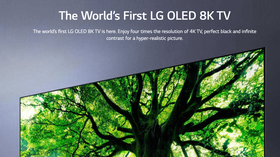 Picture of 8k TV ad