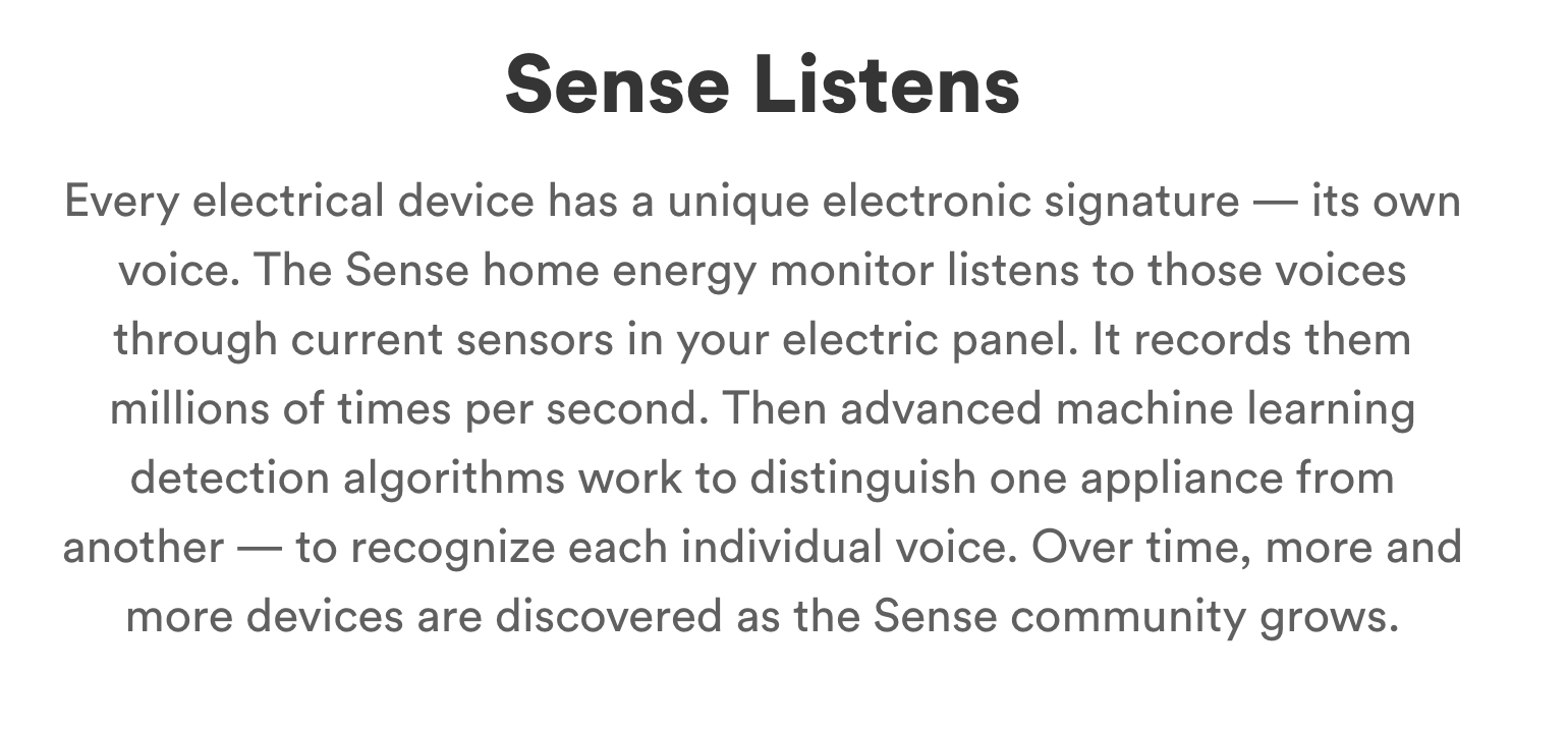Sense website copywriting