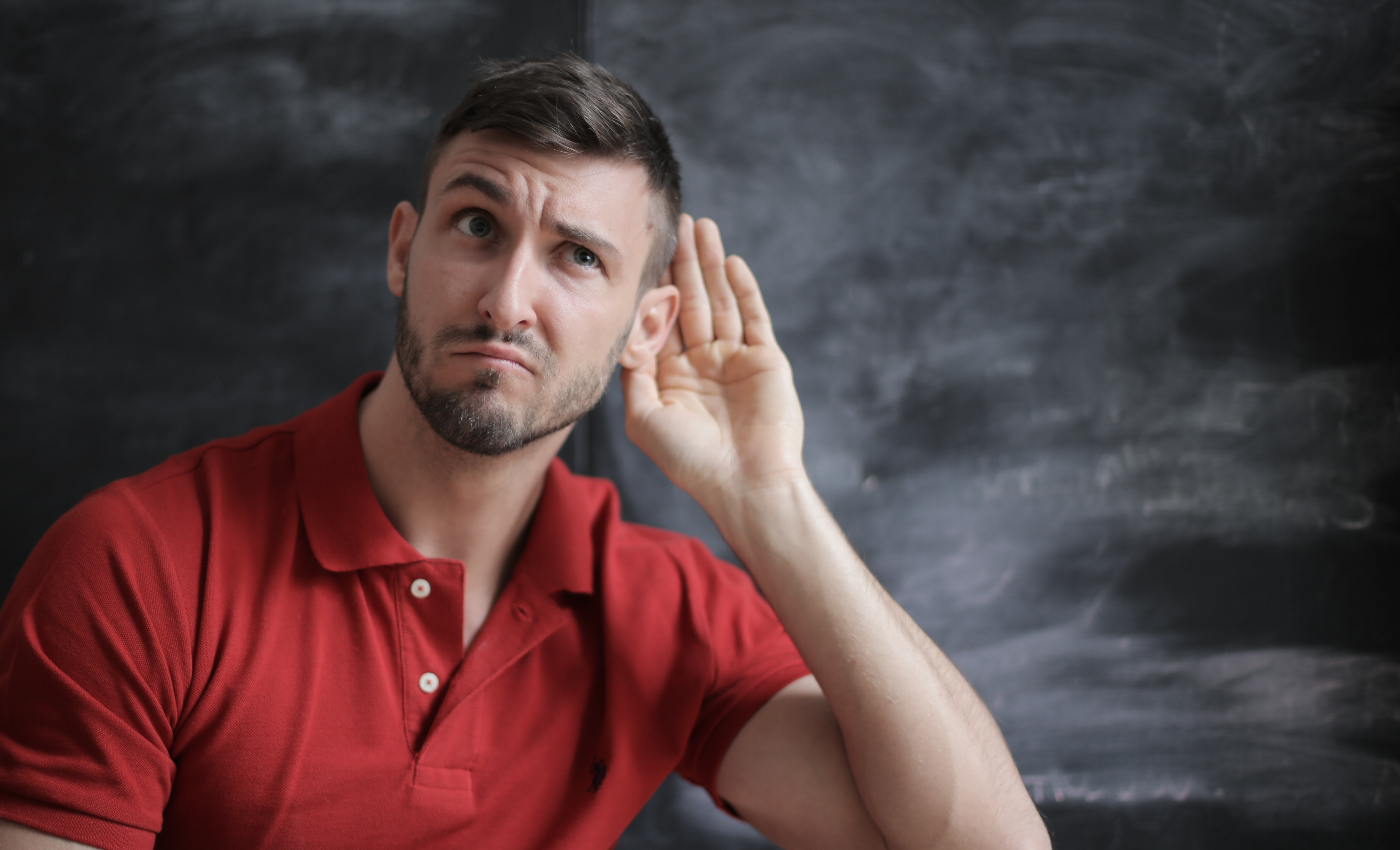 Man Listening during a case study interview