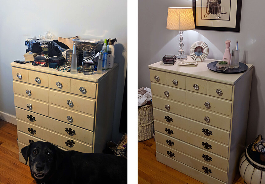Transforming her dresser took Kelly from overwhelmed to empowered
