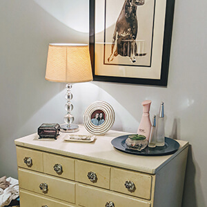 Organized dresser top