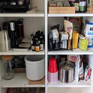 Organized kitchen pantry